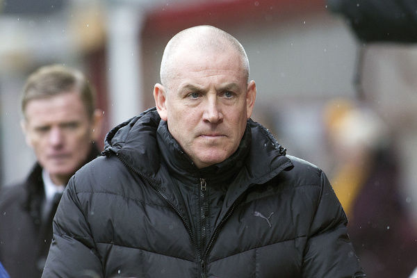 Rangers manager Mark Warburton during the Ladbrokes Premiership match at Fir Park, Motherwell