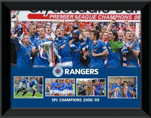 "2008/09 SPL Champions Framed 16x12"" Montage Print"