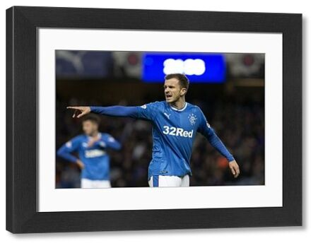 Rangers' Andy Halliday during the Ladbrokes Premiership match at Ibrox, Glasgow