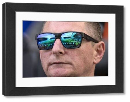 Rangers fans sunglasses reflects the match action during the Ladbrokes Premiership match at Easter Road, Edinburgh