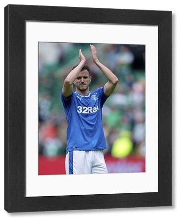 Rangers' Andy Halliday applauds the fans at the end of the Ladbrokes Premiership match at Easter Road, Edinburgh