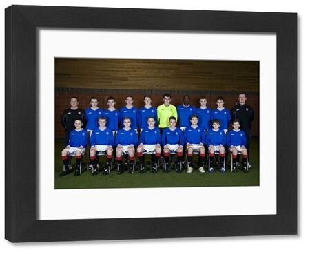 Rangers' U14's - (back row left - right) Alan Boyd coach, Scott Roberts, Ryan Sinnamon, Jonathan Bradley, Ross Kellock, Liam Kelly, Glody Mtumba, Jamie Mills, Like Hammond, Murdo McKinnon coach (front row left - right) Liam Smith, Kjeld McIntyre