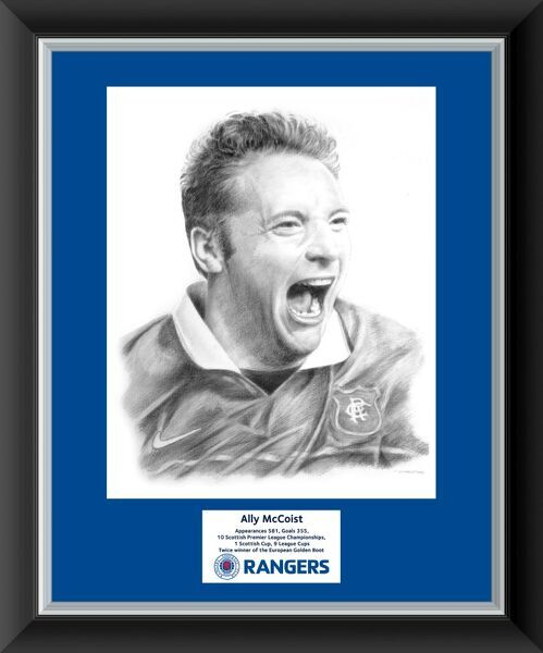 Ally McCoist pencil drawing print 20x16