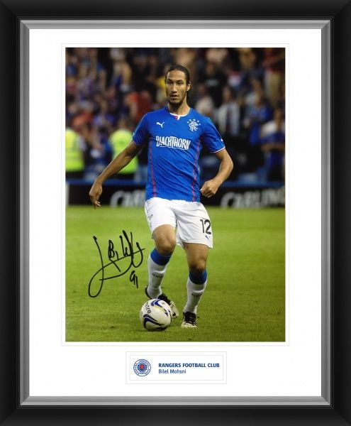 First team defender Bilel Mohsni has signed this print Frame size = 588x486mm