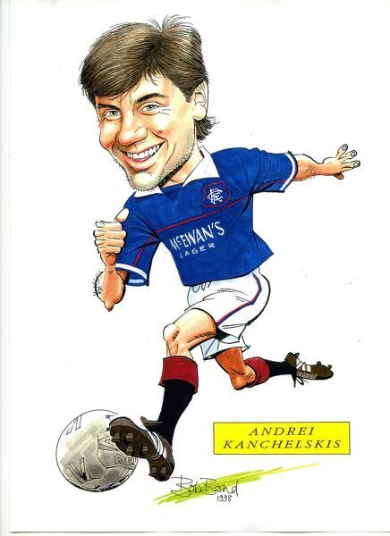 Bob began sketching soccer stories over fifty years ago, for Fleetway Comics in London and occasionally for Scottish Publishers DC Thomson. Bob has  been drawing picture-strips and caricatures of footballers ever since! Now living on the Sussex Coast