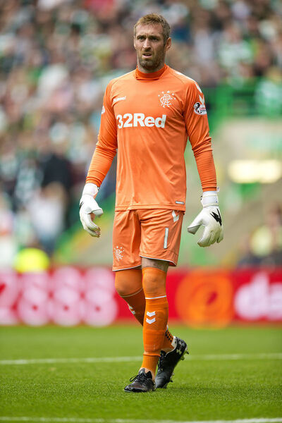 Rangers goalkeeper Allan McGregor during the Ladbrokes Premiership match at Celtic Park