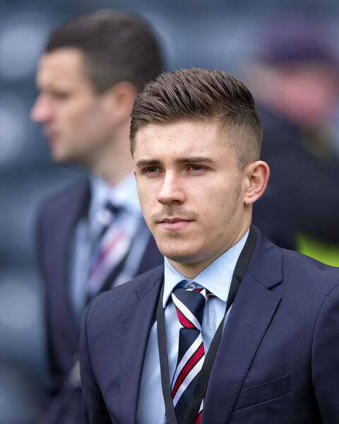 Rangers' Declan John arrives for the Scottish Cup Semi Final tie at Hampden Park, Glasgow
