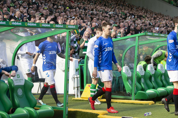 Rangers' Ryan Jack walks out the tunnel for the Scottish Premiership match at Celtic Park, Glasgow