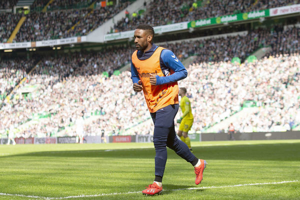 Rangers' Jermain Defoe during the Scottish Premiership match at Celtic Park, Glasgow