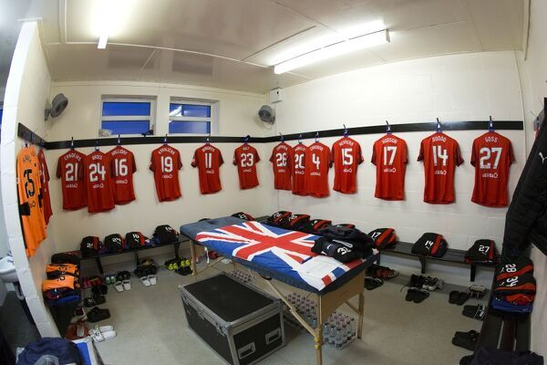 Rangers strips hand in the away dressing room for the Scottish Cup match at Bellslea Park, Fraserburgh