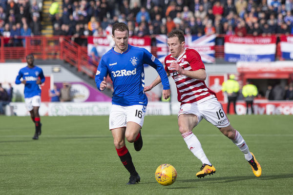 Rangers' Andy Halliday during the Scottish Premiership match at the Hope CBD Stadium, Hamilton