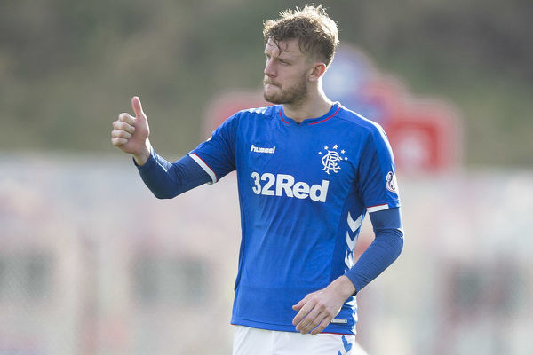 Rangers' Joe Worrall celebrates at the end of the Scottish Premiership match at the Hope CBD Stadium, Hamilton