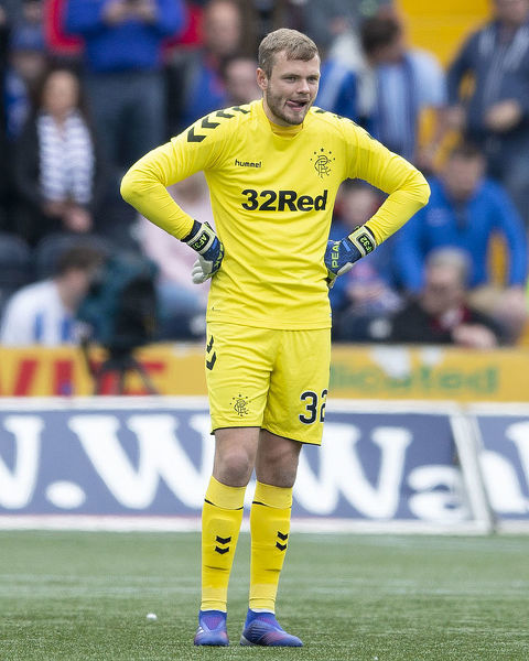 Rangers goalkeeper Andy Firth during the Scottish Premiership match at Rugby Park, Kilmarnock