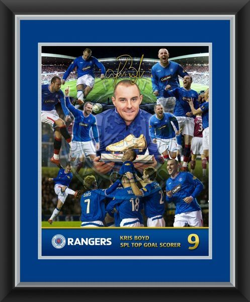 This superb montage is a tribute to Kris Boyd top goal scorer for Rangers