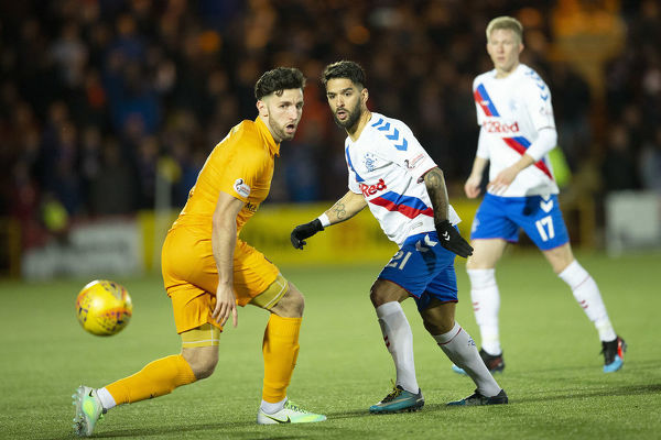 Rangers' Daniel Candeias during the Scottish Premiership match at The Tony Macaroni Arena, Livingston