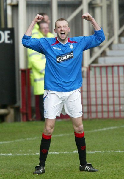 Stephen Hughes celebrates the winning goal