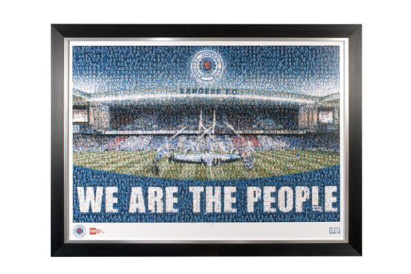 This amazing piece is made up of individual photos of fans and first team players and celebrates the 3 in a row flag unfurl day. 77cm x 57cm