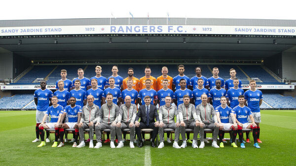 Rangers First Team Photograph 2019-20 - Ibrox Stadium