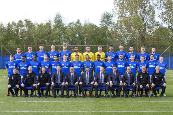 Rangers First Team Picture - The Hummel Training Centre