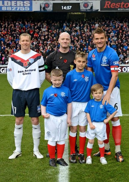 The Rangers Football Club, through Mr Connal Cochrane (Rangers Charity Foundation Manager), extended an invitation to members of HM Forces to be their guests at the match on Sat 10 Nov 12 at Ibrox Stadium; the day the Club commemorates Remembrance