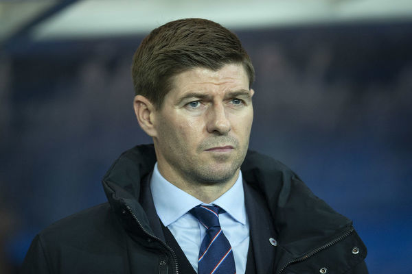 Rangers Manager Steven Gerrard during the Ladbrokes Premiership match at Ibrox Stadium, Glasgow
