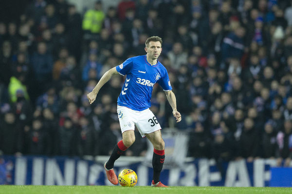 Rangers' Gareth McAuley during the Ladbrokes Premiership match at Ibrox Stadium, Glasgow
