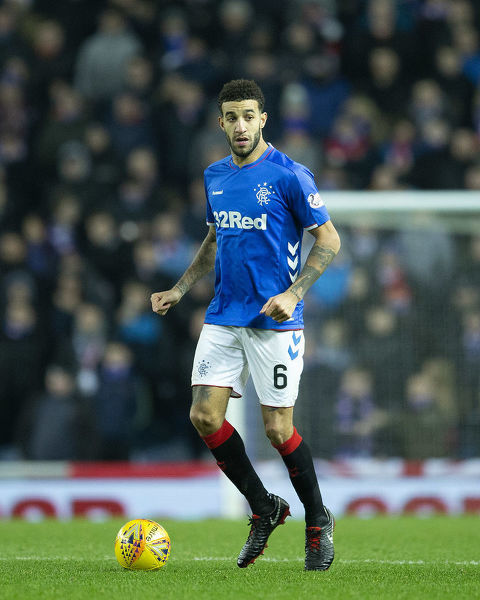 Rangers' Connor Goldson during the Ladbrokes Premiership match at Ibrox Stadium, Glasgow