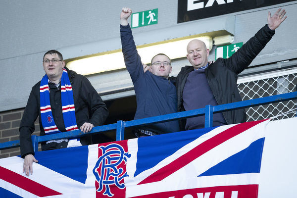 Rangers' during the Scottish Premiership match at Ibrox, Glasgow