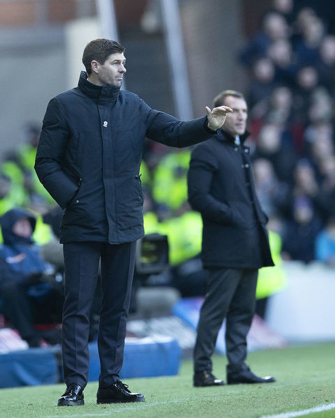 Rangers Manager Steven Gerrard during the Scottish Premiership match at Ibrox, Glasgow