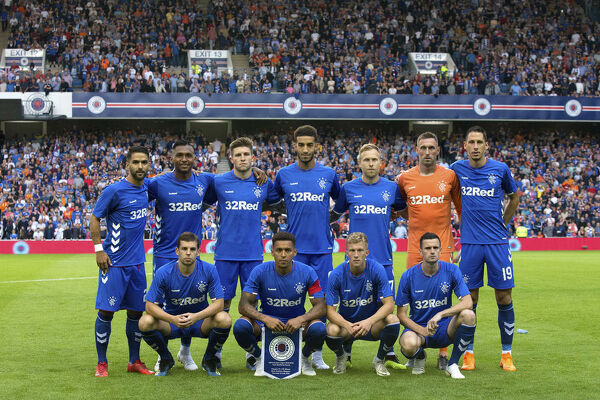 Rangers team to start against FK Shkupi in the Europa League qualifying match at Ibrox Stadium, Glasgow