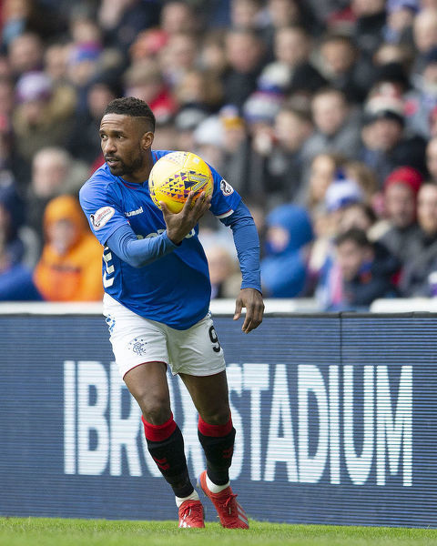 Rangers' Jermain Defoe during the Scottish Premiership match at Ibrox Stadium, Glasgow