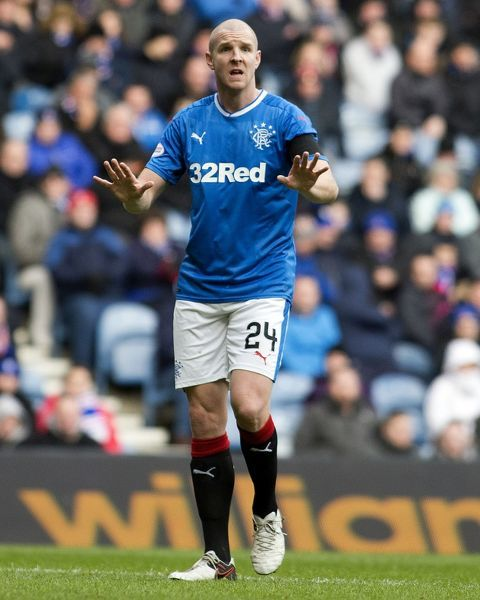 Rangers' Philippe Senderos started the game at the Ladbrokes Premiership match at Ibrox Stadium, Glasgow