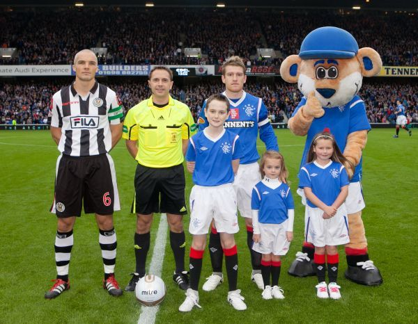 Rangers mascots before the Clydesdale Bank Scottish Premier League match against St Mirren at Ibrox. Picture date: Monday October 17, 2011. Photo credit should read: Chris Clark