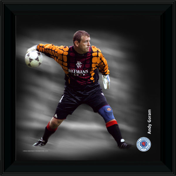 "RNGR073 - 12x12"" (305x305mm) Andy Goram Framed Dynamic Action Print"