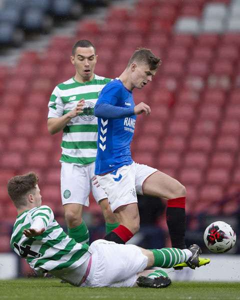Rangers' Josh McPake during the Youth Cup Final at Hampden Park, Glasgow