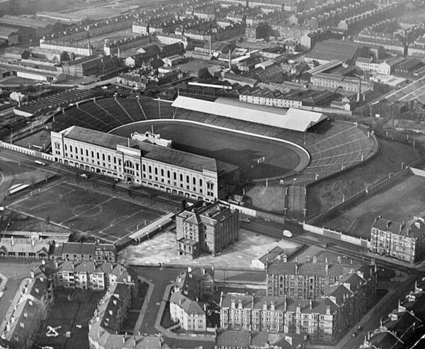 Aerial view of Ibrox, home of Rangers