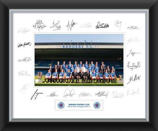 Signed Team Photo