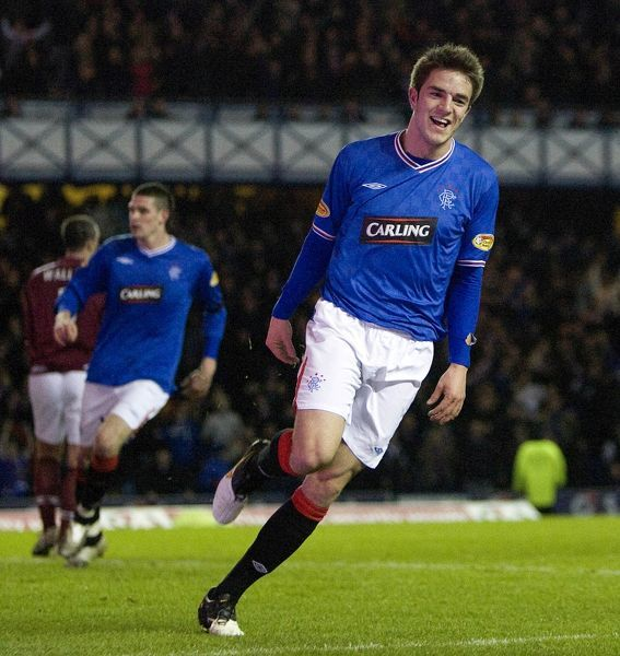 Rangers' Andrew Little celebrates his goal