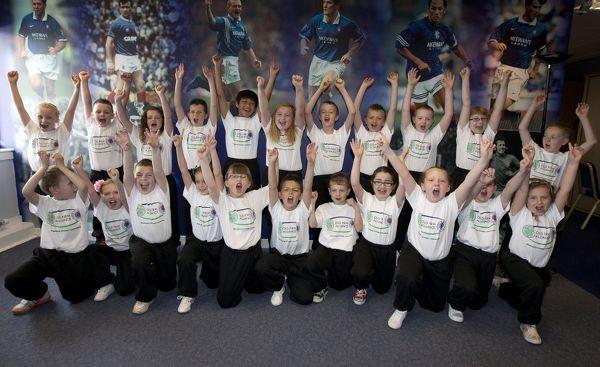 Children take part in the Old Firm Alliance Event in the Study Support Centre