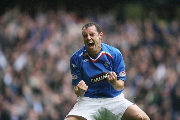 Kris Boyd, Rangers scores after scoring his first goal of the season