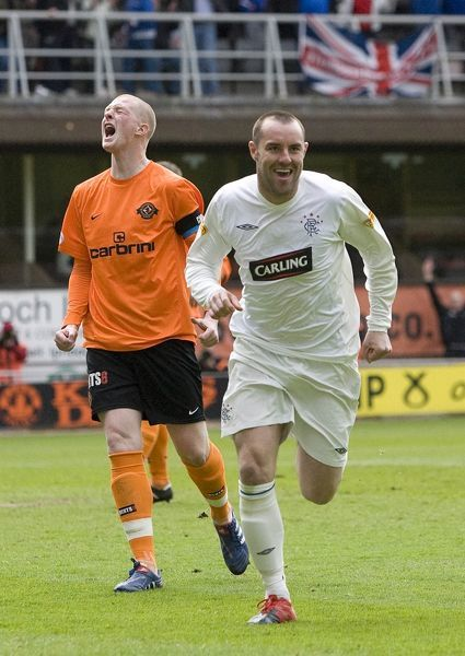 Rangers' Kris Boyd celebrates scoring his sides first goal of the game