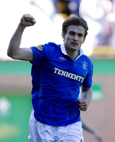 Rangers' Nikica Jelavic celebrates his goal