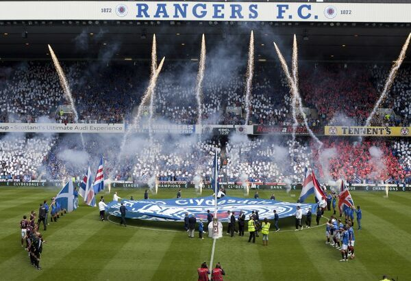 Rangers open the 2011-2012 Premier League at the Ibrox Stadium
