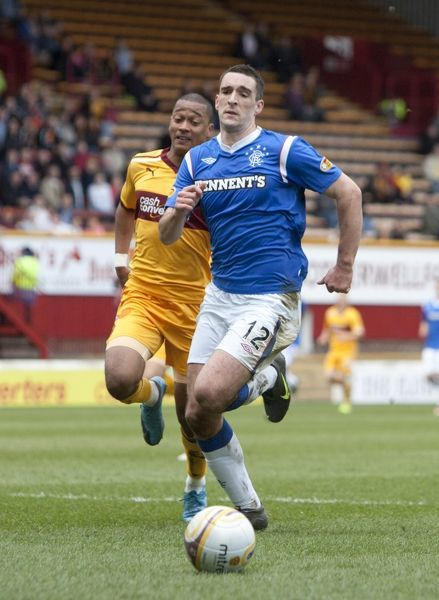 Rangers' Lee Wallace in action