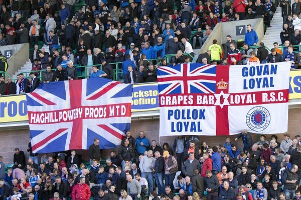 Rangers fans during the Ladbrokes Championship match at Easter Road, Edinburgh