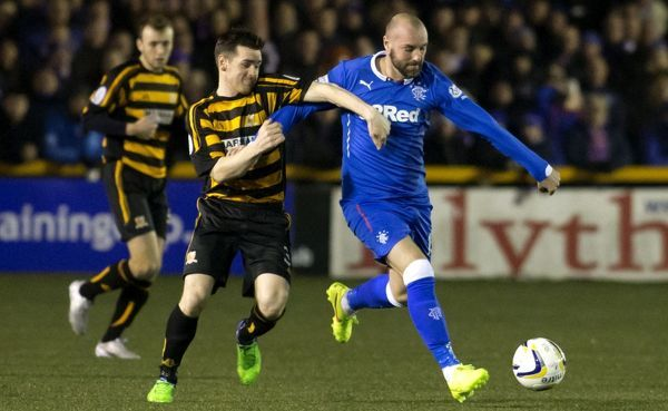 Rangers' Kris Boyd and Alloa's Mark Docherty