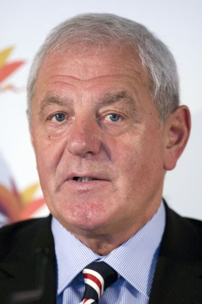 Rangers' manager Walter Smith chats to the press
