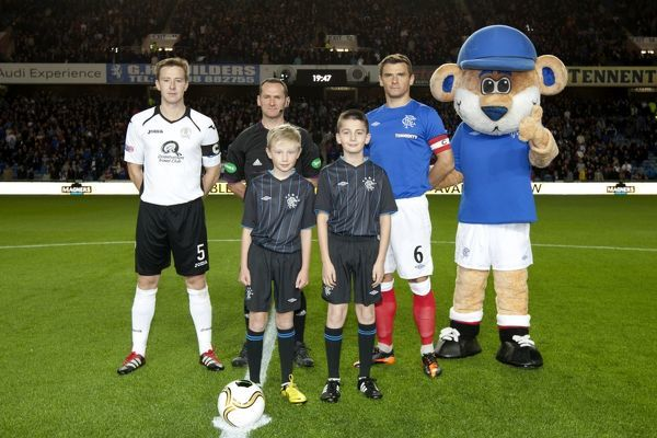 Rangers' Lee McCulloch and the Club mascots