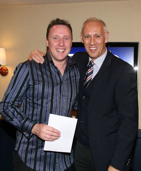 Mark Hateley with prize winner