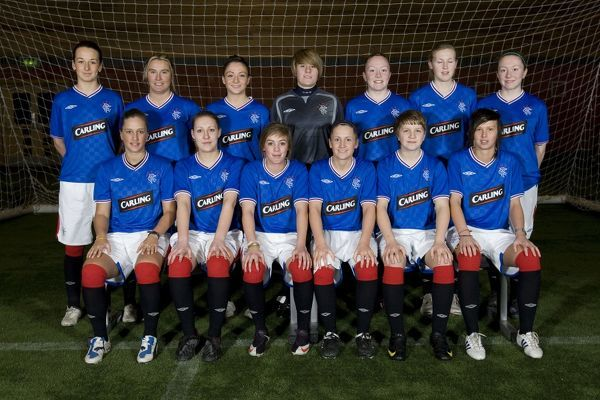 Back Row (l-r): Lesley McMaster, Trialist, Louise Magilton, Lucy Cook, Jade Gallon, Lisa Swanson, Lauren Gallon Front Row (l-r): Jayne Somerville, Jennifer Davis, Nicola Docherty, Cheryl Gallagher, Lana Clelland, Danica Dalziel
